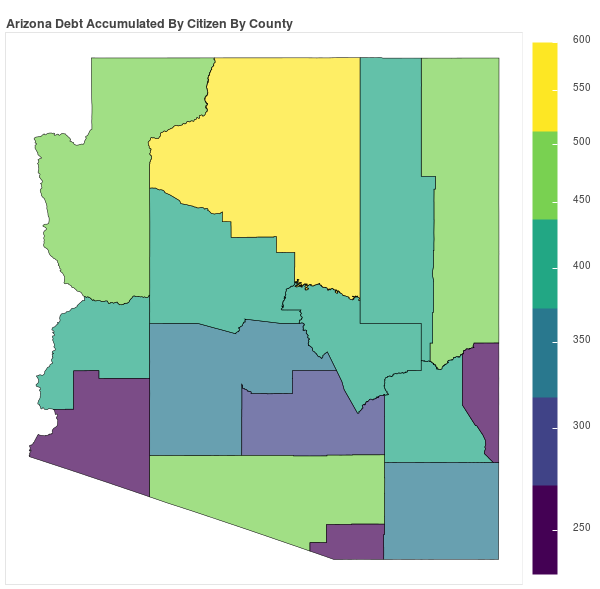 Arizona Consumer Debt Accumulation by County