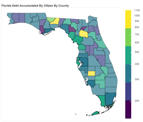 Florida Consumer Debt Accumulation by County