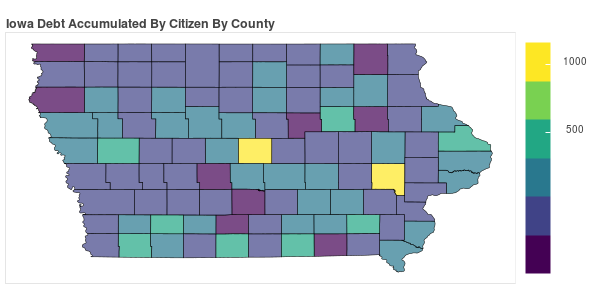 Iowa Consumer Debt Accumulation by County