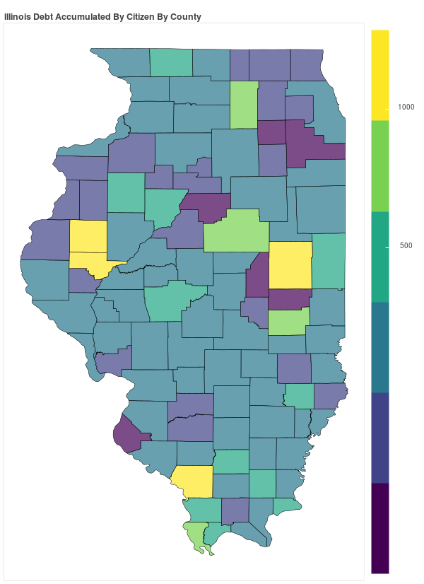 Illinois Consumer Debt Accumulation by County