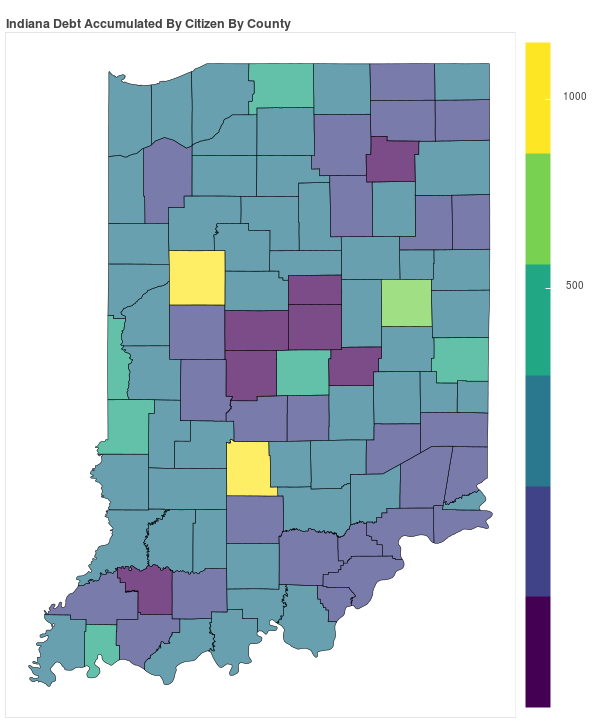 Indiana Consumer Debt Accumulation by County