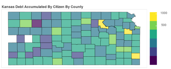 Kansas Consumer Debt Accumulation by County