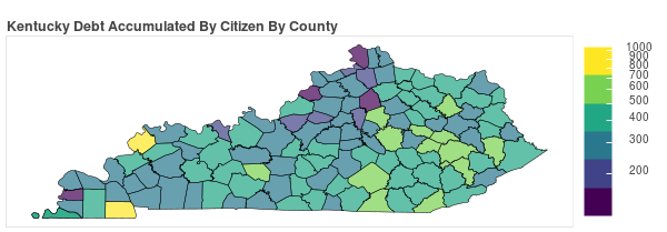 Kentucky Consumer Debt Accumulation by County
