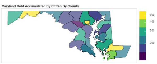 Maryland Consumer Debt Accumulation by County
