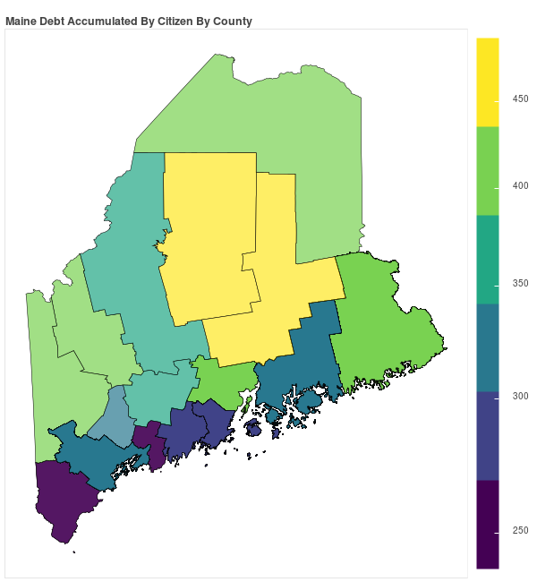 Maine Consumer Debt Accumulation by County