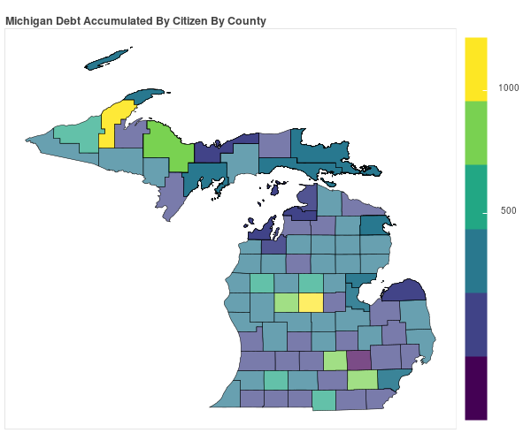 Michigan Consumer Debt Accumulation by County