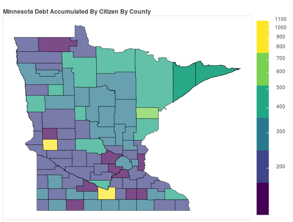 Minnesota Consumer Debt Accumulation by County