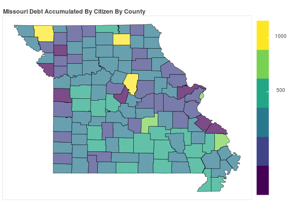 Missouri Consumer Debt Accumulation by County