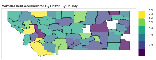 Montana Consumer Debt Accumulation by County