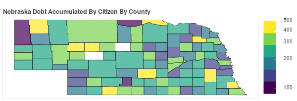 Nebraska Consumer Debt Accumulation by County