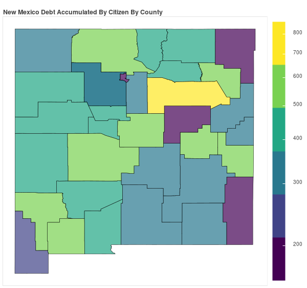 New Mexico Consumer Debt Accumulation by County