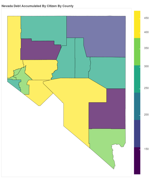 Nevada Consumer Debt Accumulation by County