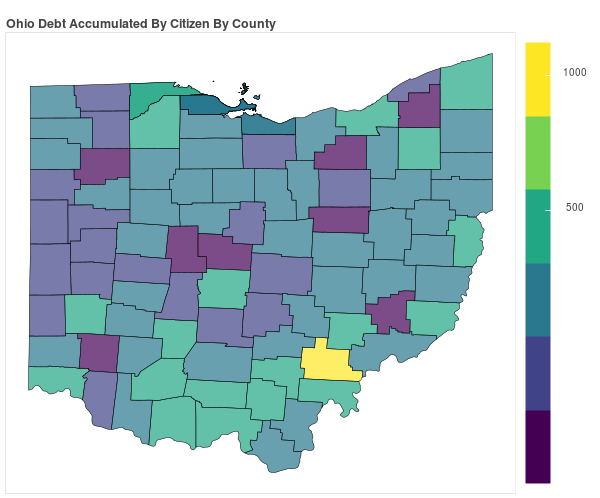 Ohio Consumer Debt Accumulation by County