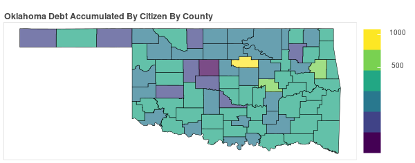 Oklahoma Consumer Debt Accumulation by County