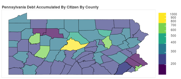 Pennsylvania Consumer Debt Accumulation by County
