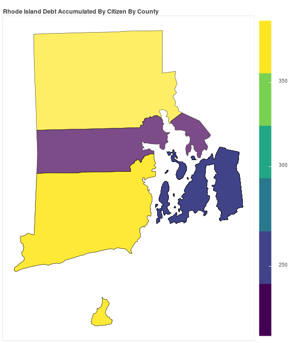 Rhode Island Consumer Debt Accumulation by County