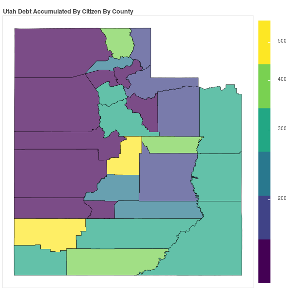 Utah Consumer Debt Accumulation by County