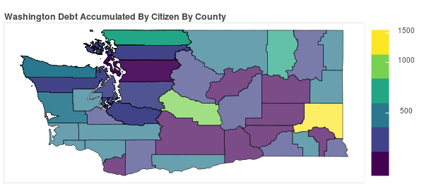Washington Consumer Debt Accumulation by County