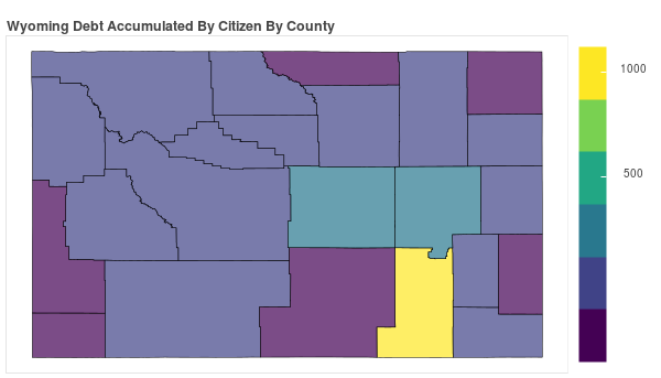 Wyoming Consumer Debt Accumulation by County